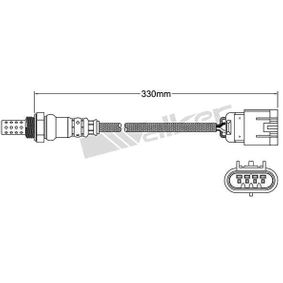 Lambdasonde Kabellänge: 330mm mit OEM-Nummer 39210 3C830
