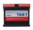 TAB Starterbatterie 12V 54Ah 510A B13 DIN 55401 SMF Bleiakkumulator