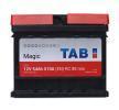TAB Magic Bateria de arranque 12V 54Ah 510A B13 DIN 55401 SMF Bateria chumbo-ácido
