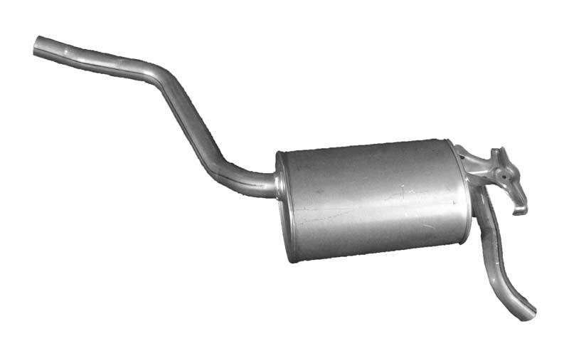 IZAWIT  07.005 Endschalldämpfer Länge: 1200mm, Länge: 1200mm