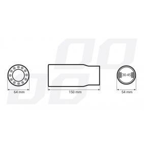 Deflector tubo de escape 01313