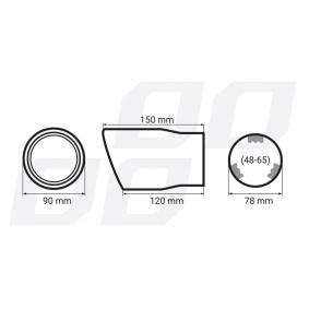 Deflector tubo de escape 01117