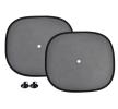 AMiO Σκίαστρα παραθύρων αυτοκινήτου Νάιλον, μαύρο, Ποσότητα: 2