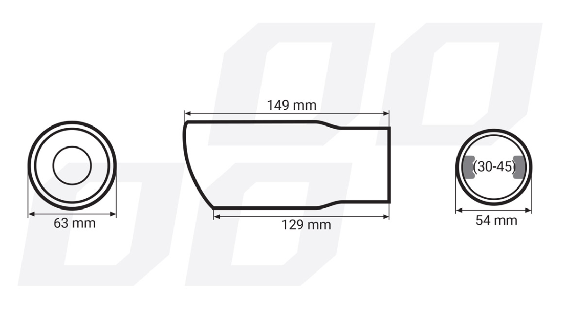 Exhaust Tip AMiO 01311 rating