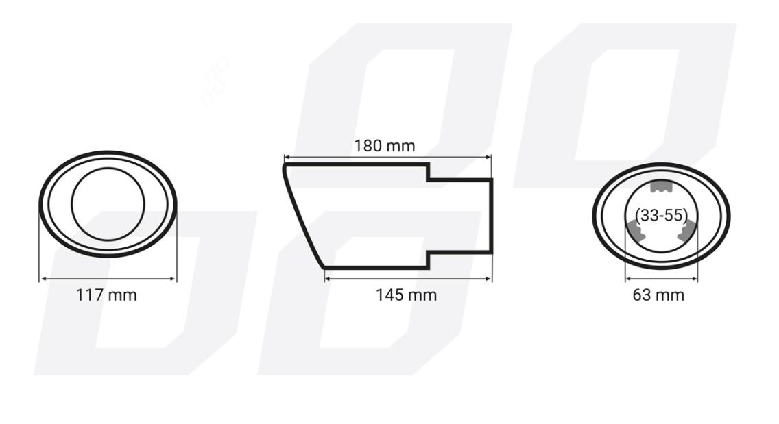 Deflector tubo de escape AMiO 01314 evaluación