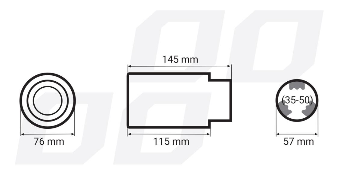 Deflector tubo de escape AMiO 01316 evaluación