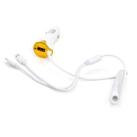 KFZ-Ladekabel für Handys Ausgangsstromstärke: 1A, 2.1A, Eingangsspannung: 12V, 24V 01264