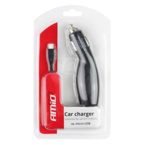 Chargeur voiture de téléphone mobile Tension-entrée: 12, 24V 01265