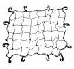 AMiO Bagage net Largeur: 90cm, noir, Longueur: 70cm