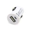 AMiO Nabíječka do auta pro mobilní telefon počet vstupů/výstupů: 1 USB, bílá