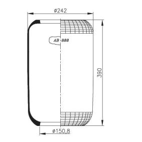 Federbalg, Luftfederung mit OEM-Nummer 1 137 888