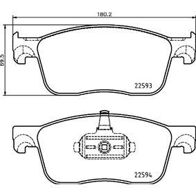 Bremsbelagsatz, Scheibenbremse Breite: 180,2mm, Höhe: 69,5mm, Dicke/Stärke: 17,3mm mit OEM-Nummer 16 13 260 780