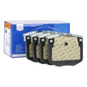 Bremsbelagsatz, Scheibenbremse Breite: 125,9mm, Höhe: 94,5mm, Dicke/Stärke: 20,3mm mit OEM-Nummer 3411 6 888 457