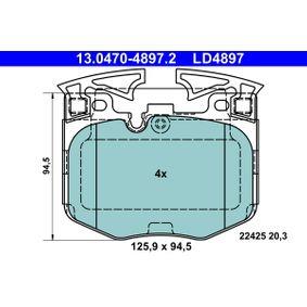 Bremsbelagsatz, Scheibenbremse Breite: 125,9mm, Höhe: 94,5mm, Dicke/Stärke: 20,3mm mit OEM-Nummer 3411 6888 457