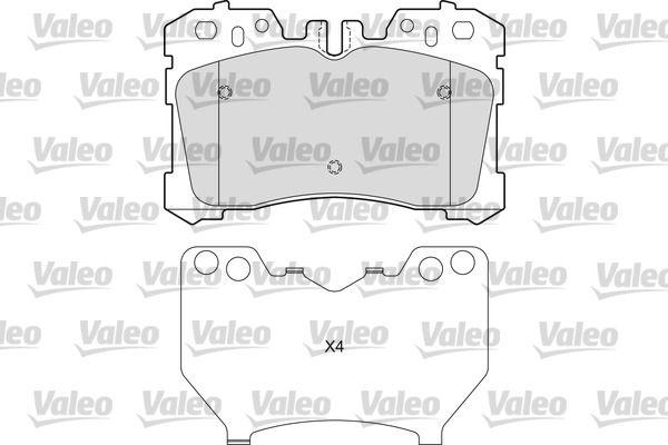 VALEO  601654 Bremsbelagsatz, Scheibenbremse Breite: 134mm, Höhe: 87,9mm, Dicke/Stärke: 19,1mm