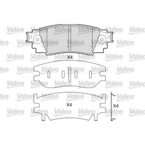 Brake Pad Set, disc brake Width: 121,1mm, Height: 42,9mm, Thickness: 14,5mm with OEM Number 044660E070
