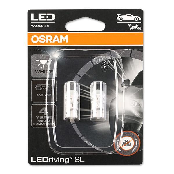 Lámpara, luz interior 2825DWP-02B OSRAM W5W en calidad original
