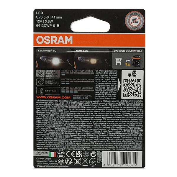 Bulb, interior light OSRAM 6413DWP-01B rating