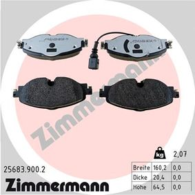 Brake Pad Set, disc brake Width 1: 160mm, Height 1: 65mm, Thickness: 20mm with OEM Number 5Q0698151L