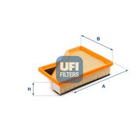 Luftfilter Länge: 215,0mm, Breite: 165,0mm, Höhe: 47,0mm, Länge: 215,0mm mit OEM-Nummer 13727529264