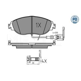 Brake Pad Set, disc brake Width: 175,2mm, Height: 69,7mm, Thickness: 20mm with OEM Number 7N0698151E