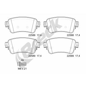 Brake Pad Set, disc brake Height: 53,30mm, Thickness: 17,40mm with OEM Number SU001A6136