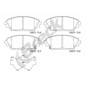 Brake Pad Set, disc brake Height: 55,80mm, Thickness: 15,80mm with OEM Number BHY1-332-8ZA