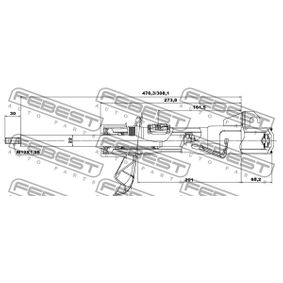 2010 Mazda 3 BL 2.0 (BLEFP) Shock Absorber 05665299FR