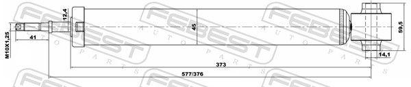 Amortiguador FEBEST 12650810R evaluación