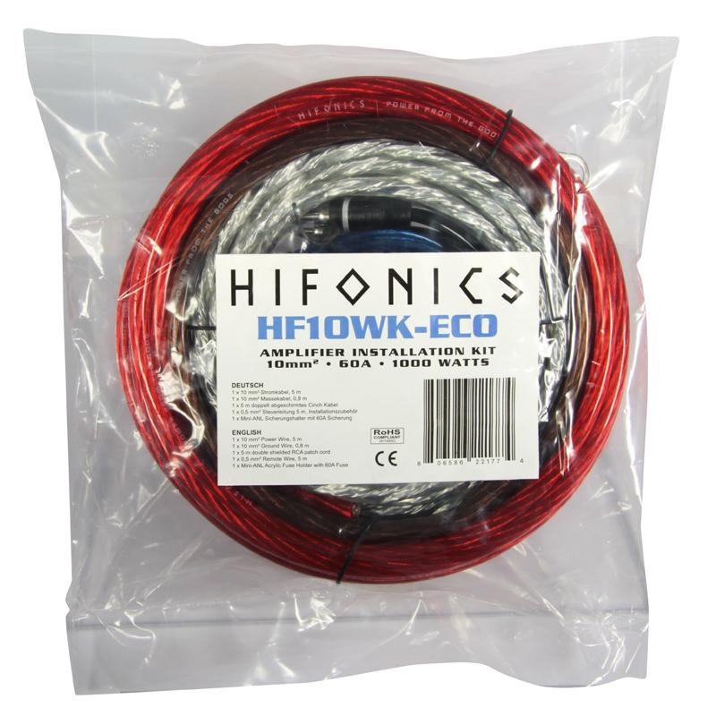Kit de instalación para amplificador HIFONICS HF10WK-ECO evaluación