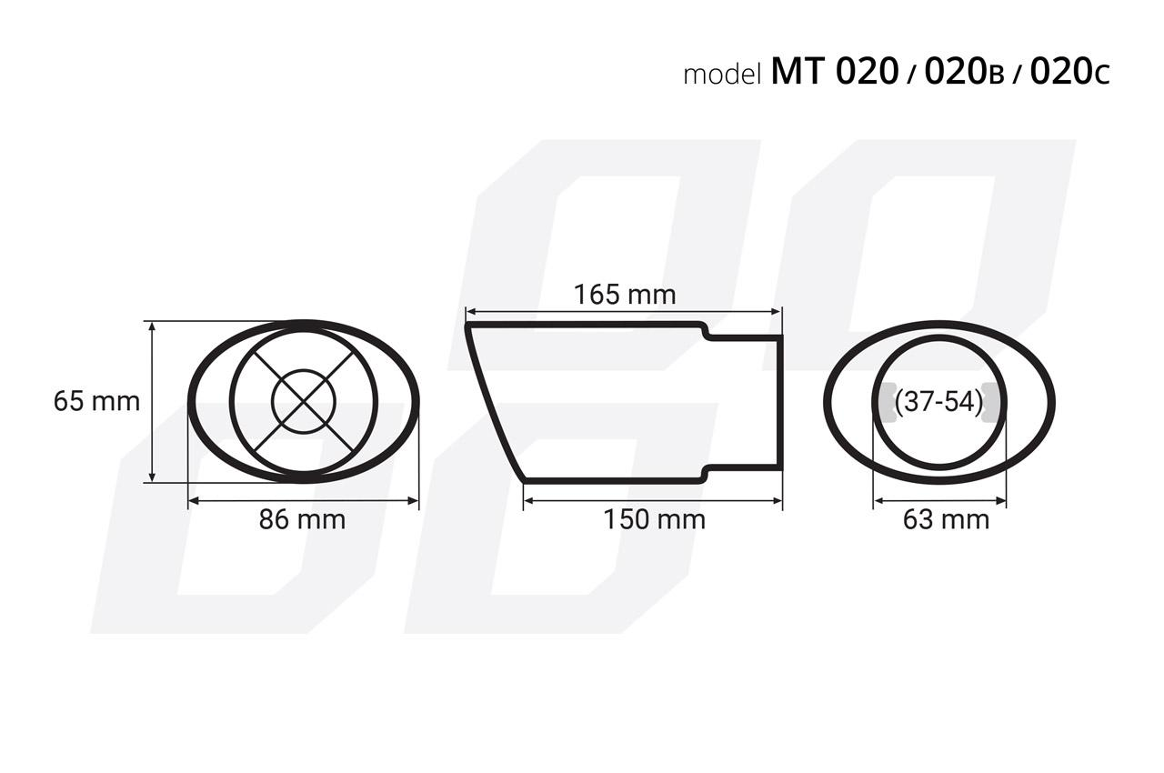 Exhaust Tip AMiO 02350 rating