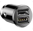 Baseus Nabíječka do auta pro mobilní telefon počet vstupů/výstupů: 2x USB, černá