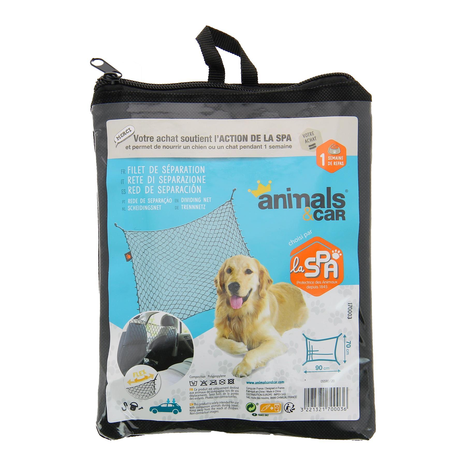 Filet de coffre pour chien animals&car 170003 connaissances d'experts