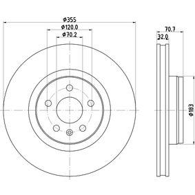 Bremsscheibe Bremsscheibendicke: 32mm, Ø: 355mm mit OEM-Nummer 102509900B