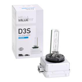 Glühlampe, Fernscheinwerfer D3S (Gasentladungslampe) 42V 35W P32d-2-5 4300K Xenon 8GS 242 632-321 VW GOLF, PASSAT, POLO