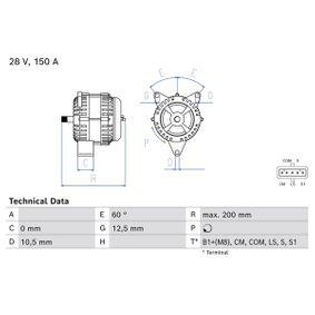 Lichtmaschine mit OEM-Nummer 0001506550