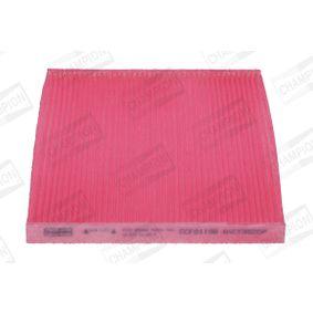 Filter, Innenraumluft Länge: 264mm, Breite: 216mm, Höhe: 20mm mit OEM-Nummer 77365764