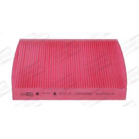 Filter, Innenraumluft Länge: 246mm, Breite: 215mm, Breite 1: 213mm, Höhe: 32mm mit OEM-Nummer 6Q0819653