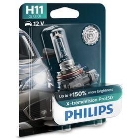 Glühlampe, Fernscheinwerfer H11, 55W, 12V 12362XVPB1 VW GOLF, PASSAT, TRANSPORTER