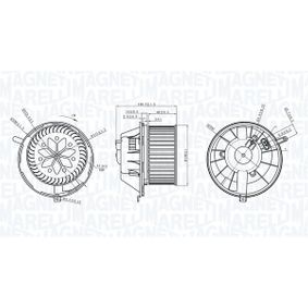 Electric Motor, interior blower with OEM Number 1K1 819 015 C