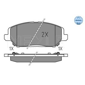 Brake Pad Set, disc brake Width: 149mm, Height: 59,4mm, Thickness: 19,7mm with OEM Number 58101-G4A10