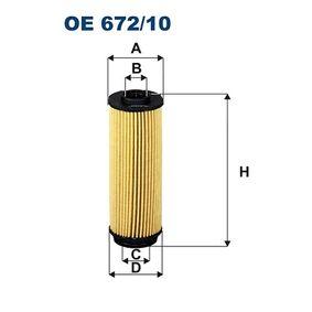Oil Filter OE 672/10 3 Saloon (F30, F80) 340i 3.0 MY 2015