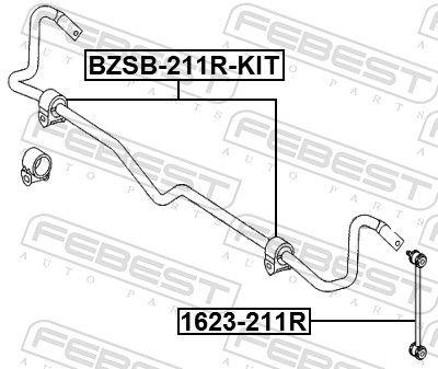 Silentblock de la Barra Estabilizadora FEBEST BZSB-211R-KIT evaluación