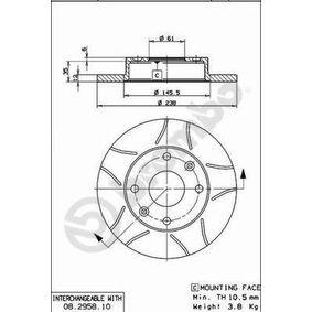 Bremsscheibe Bremsscheibendicke: 12mm, Lochanzahl: 4, Ø: 238mm mit OEM-Nummer 60 01 549 211