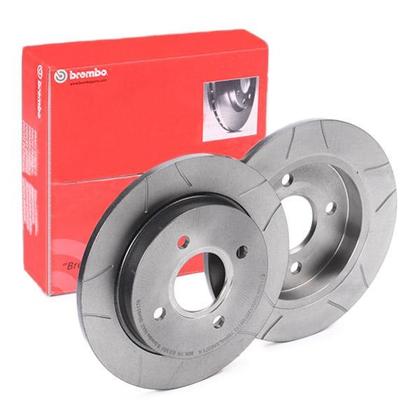 BREMBO Disc frana puntea spate, Ř: 252.5mm, plin, cu fante, acoperit (cu un strat protector) 08.4931.76