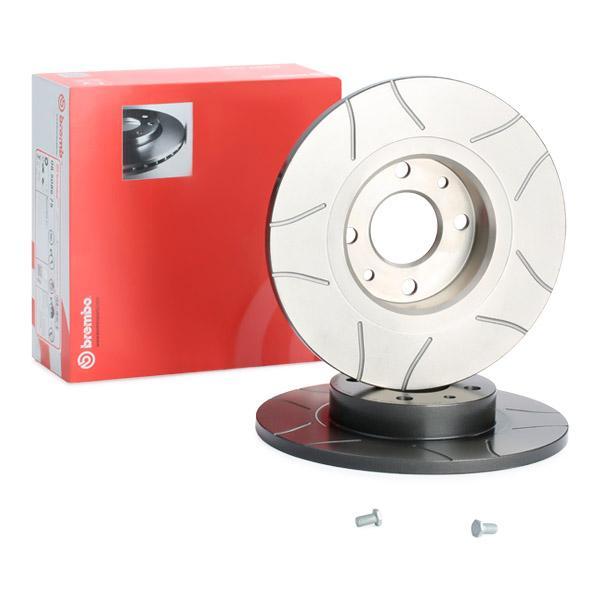 BREMBO спирачен диск предна ос, Ø: 257мм, прорязан, плътен, с покритие 08.5086.75