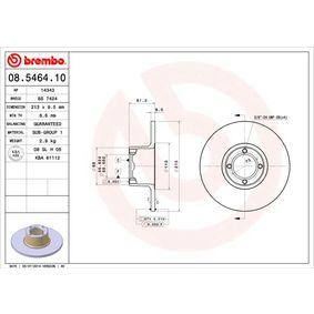 Bremsscheibe Bremsscheibendicke: 9,5mm, Lochanzahl: 4, Ø: 213mm mit OEM-Nummer 21A 2612