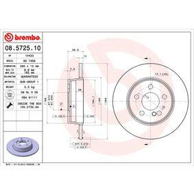Bremsscheibe Bremsscheibendicke: 12mm, Lochanzahl: 5, Ø: 290mm mit OEM-Nummer 140 423 06 12