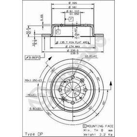Спирачен диск дебелина на спирачния диск: 10мм, брой на дупките: 4, Ø: 239,0мм с ОЕМ-номер 42510-SK3-E00