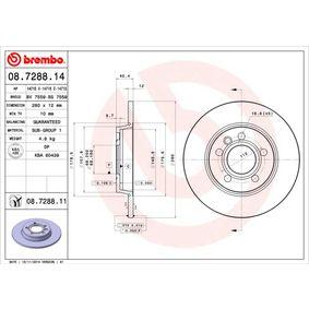 Bremsscheibe Bremsscheibendicke: 12mm, Lochanzahl: 5, Ø: 280mm mit OEM-Nummer 701.615.601A